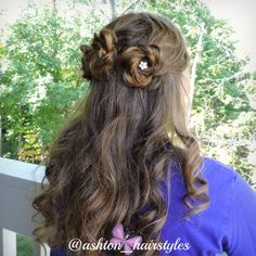I did the hair of a friend for homecoming. :-) 3 lovely flowers