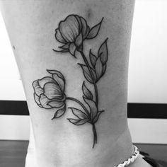 small peony tattoo - Google Search