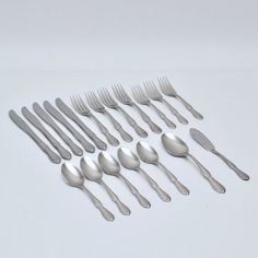 Vintage Rogers Stanley Roberts Plymouth Cove Hammered Set of 16 Mix and Match