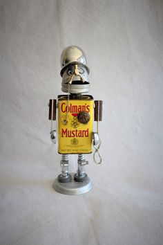 Colonel Coleman  Mustard  the Robot by FairyJunkMother on Etsy