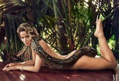 If I looked like her, I'd do it too! The Story Behind Jennifer Lawrence's Snake Photo | Vanity Fair