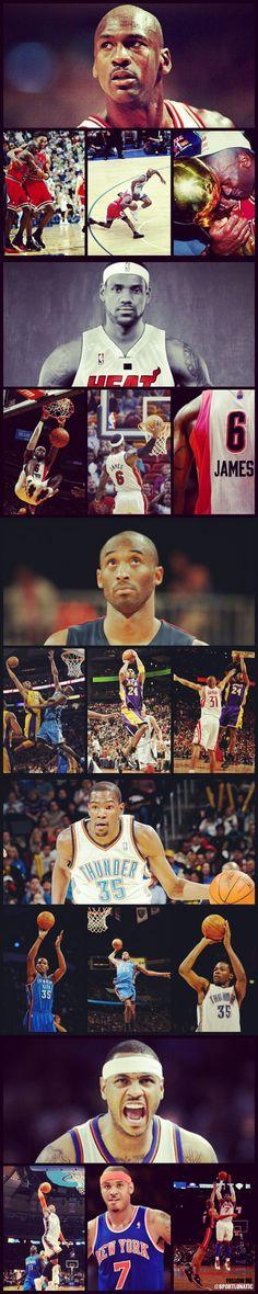 MJ, King James, Kobe, Kd, Melo