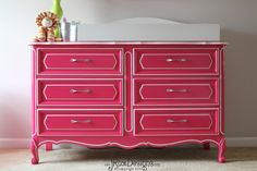 Custom Painted French Provencal Dresser by jRoxDesigns