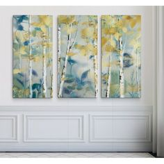 'Gilded Forest I' Acrylic Painting Print Multi-Piece Image on Wrapped Canvas Best Canvas, Canvas Art, Painting Canvas, Diy Painting, Canvas Online, Art Store, Canvas Pictures, Online Art Gallery, Painting Prints