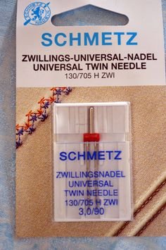 SCHMETZ, twin needles, size 3,0/90, sewing machine needles by TheQuiltedCheese on Etsy