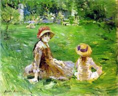 """One of """"les trois grandes dames"""" of Impressionism alongside Marie Bracquemond and Mary Cassatt, French painter Berthe Morisot was a painter and a member of the circle of painters in Paris who became known as the Impressionists. Edouard Manet, Toledo Museum Of Art, Art Museum, French Impressionist Painters, Impressionist Artists, Berthe Morisot, Painting Prints, Art Prints, Mary Cassatt"""