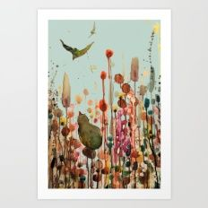 Art Print featuring Learning To Fly by Sylvie Demers