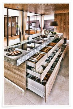 80 Awesome Modern Kitchen Island with Seating Ideas - Page 21 of 80 - Kitchen Isl . - 80 Awesome Modern Kitchen Island with Seating Ideas – Page 21 of 80 – Kitchen Islands Best Pict - Small Kitchen Diner, Modern Kitchen Island, Kitchen Island With Seating, Modern Farmhouse Kitchens, Modern Kitchen Design, Rustic Kitchen, Interior Design Kitchen, Cool Kitchens, Kitchen Islands