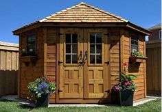 Outdoor Living Today - 9 x 9 Penthouse Garden Shed with French Doors