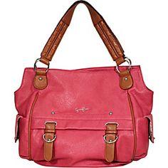 Sheila Shopper - faux-leather shoulder bag by Jessica Simpson