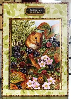(110) Greeting Card - (5x7) Hunkydory 'Wild at Heart - Woodland Wonder' Little Book