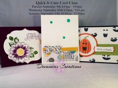 September 2014 Quick and Cute Card Class