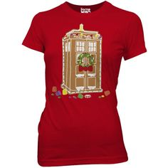 Doctor Who: Gingerbread TARDIS Ladies T-Shirt - Clothing & Accessories - Shop By Category | Doctor Who Shop