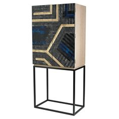 180cm x 80cm x 46cm, in eucalyptus veneer, straw marquetry and steel, £21,000