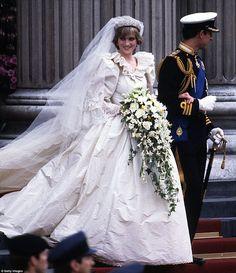 David says Diana's fairy-tale style has come back into fashion, while modern brides are al...