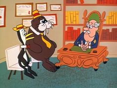 Tennessee Tuxedo and His Tales (1963-1966)  Cast and history: http://www.imdb.com/title/tt0214375/  Theme music: http://www.youtube.com/watch?v=oebOj7Z1e4k