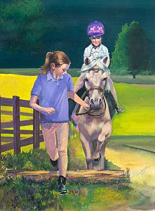 Horse Jumping Painting - First Jump by Robert Brent