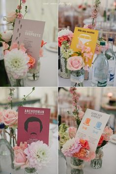 retro table names wedding