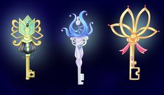1 - sold to cadeine 2 - sold to cadeine 3 - sold to DO NOT edit, trace, copy or repost my designs! They belong to people who bought them! Please, read the Terms of Usage and inf. Anime Weapons, Fantasy Weapons, Magical Jewelry, Weapon Concept Art, Magic Art, Star Vs The Forces Of Evil, Key Design, Monster, Anime Outfits