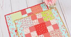 How to Make a Beginner Charm Pack Placemat! Video Tutorial & Sew Along - Fat Quarter Shop's Jolly Jabber