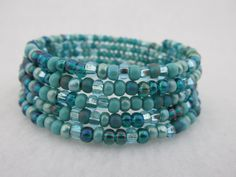 Blue Bracelet, Blue Jewelry, Blue Beads, Turquoise Bracelet, Mixed Blue Beads by AngelDesignsbyDebbie on Etsy