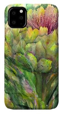 Artichoke in Bloom IPhone Case by Sabina Von Arx Creative Colour, Basic Colors, Artichoke, Color Show, Colorful Backgrounds, Fine Art America, Create Yourself, Original Paintings, Presentation