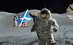 Oor Eck! He'll go to any lengths to fly the flag for Scotland! - Carl Carter