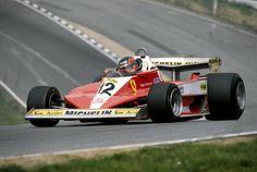 Gilles Villeneuve (Scuderia Ferrari), Ferrari 312T3 - Ferrari Tipo 015 3.0 Flat-12, 1978 British Grand Prix, (Brands Hatch)