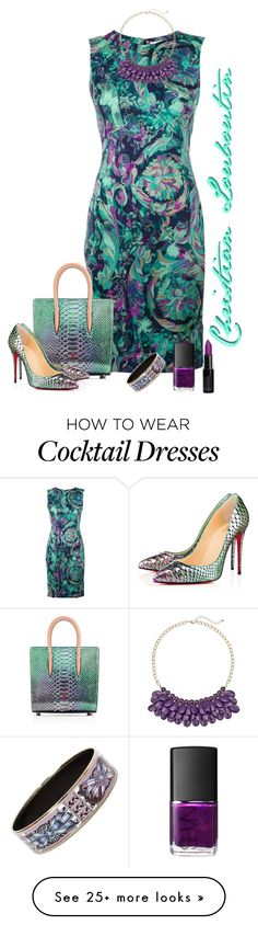 """""""Christian Louboutin matching bad and shoes"""" by lorrainekeenan on Polyvore featuring Versace, Hermès and NARS Cosmetics"""