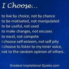 My choice