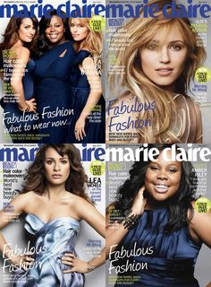 marie claire - We're Gleeking Out Over Our May Cover! #Glee #Gleek #marieclaire