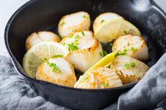 These yummy Low FODMAP Scallops with Lemon are melt-in-your-mouth-good and perfect for a special supper whether you're on the low FODMAP diet or not!