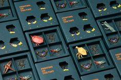 Printing On The Tiny on Packaging of the World - Creative Package Design Gallery jewelry package Printing On The Tiny Box Packaging, Brand Packaging, Design Packaging, Coffee Packaging, Origami Insects, Orchard Design, Web Design, Food Design, Grafik Design