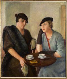 """Tullia Socin (Italian, 1907-1995) - """"Conversazione"""" (Conversation), 1934"""