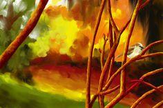 #DessinAnalytique - #Infographie - #PeintureNumérique - Peinture à l'huile - #Oiseau - #Paysage - #Ambiance - #Moineau - Branche - #Penninghen - Audrey DEBARGUE https://fr.pinterest.com/audreydebargue/