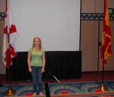 Winner of the Hispanic Heritage History Bee (Middle School level), Jaidyn Katutis at the NABE Conference, Feb. 8, 2013.