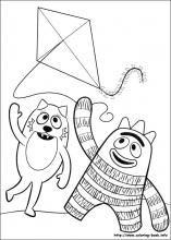 Yo Gabba Gabba coloring page