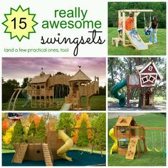 15 Amazing Swing Sets!