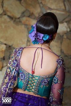 Bridal Goingaway Saree Blouse by Poornima Abeyratna Sri Lankan bridal designer