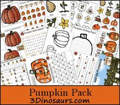 Free Pumpkin Printable Activities Pack - 80 pages  - repinned by @PediaStaff – Please Visit  ht.ly/63sNt for all our ped therapy, school psych, school nursing & special ed pin