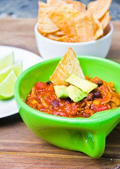 Chicken Tortilla Soup    3 chicken breasts  2, 15 oz cans black beans  2, 15 oz cans Mexican style stewed tomatoes  1, 15 oz can corn (no salt added)  3 cloves garlic, minced  1, 12oz can tomato paste  1 cup hot salsa  2 bell peppers    Mix together all the ingredients in a crockpot (raw chicken breasts and everything) and set on low for 8 hours.