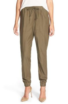 Free shipping and returns on Treasure&Bond Twill Jogger Pants at Nordstrom.com. Relaxed-fit jogger pants cut from comfy twill fabric can be dressed up or down, thanks to sleek pockets and elastic cuffs that add structure and shapeto the easy look.<br /><br />When you buy Treasure&Bond, Nordstrom will donate 2.5% of net sales (that's 5% of net profits) to organizations that work to empower youth.