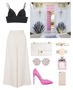 """""""Costa Rica"""" by eellcat ❤ liked on Polyvore featuring Topshop, Valentino, Chanel, Nixon, Matthew Williamson, Christian Dior, Black Apple, women's clothing, women's fashion and women"""