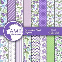Good morning... Friday and here is a brand new floral scrapbooking pack for those that love lavenders and purples!  Always a favorite!  Anyhow let me know what you think!  Have an awesome and inspiring day! Anne-Marie  You can find the papers here: http://etsy.me/2awe1Sn  #ambillustrations #scrapbooking #crafters #clipart #digital papers #digitaldesigner #etsy #craft #cricut #planners #scrapbookcontest #summerpapers #floralpapers #weddingpapers #showerpapers #gardenpapers #gardening