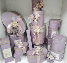 Hatboxes. Treasure Hat Box. Lavender Gift Boxes.