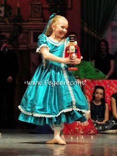 fcf8169dc075 Nutcracker Dresses - Nutcracker Costumes for Clara or Party Scene Dancers  Blue Spruce Victorian Styled -