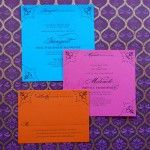 colours for an Indian wedding invitation