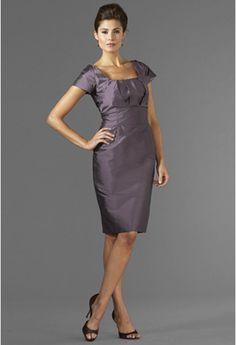 "Sasaki Dress  Style #9431  Pictured In: Shantung-Plum    Skirt Length from waist to hem: 25"""
