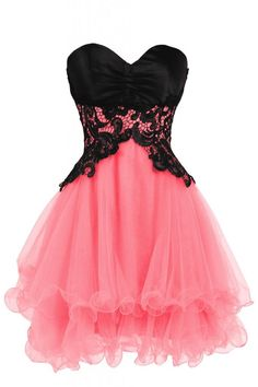 Ellames Sweetheart Cocktail Short Prom Homecoming Party Dresses For Juniors Watermelon US 20Plus