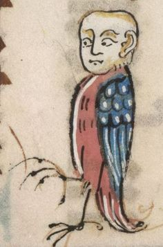 Detail from The Luttrell Psalter, British Library Add MS 42130 (medieval manuscript,1325-1340), f22v